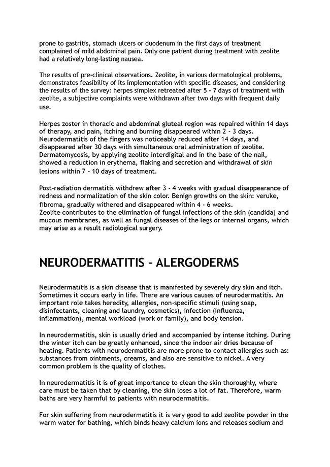 cont'd of eczame and skin diseases. neurodermatitis - alergoderms