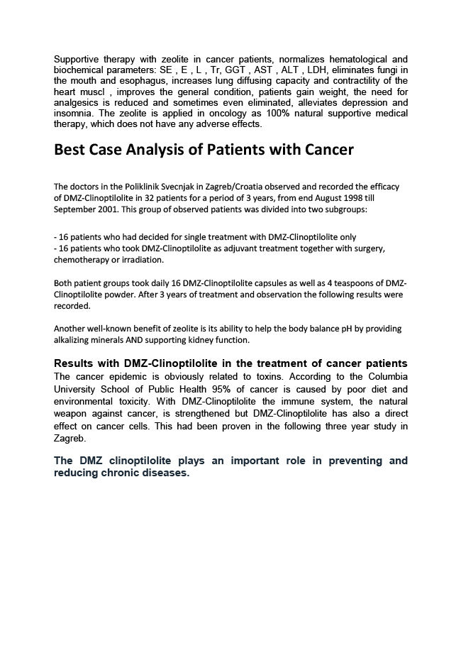 best cade analysis of patients with cancer