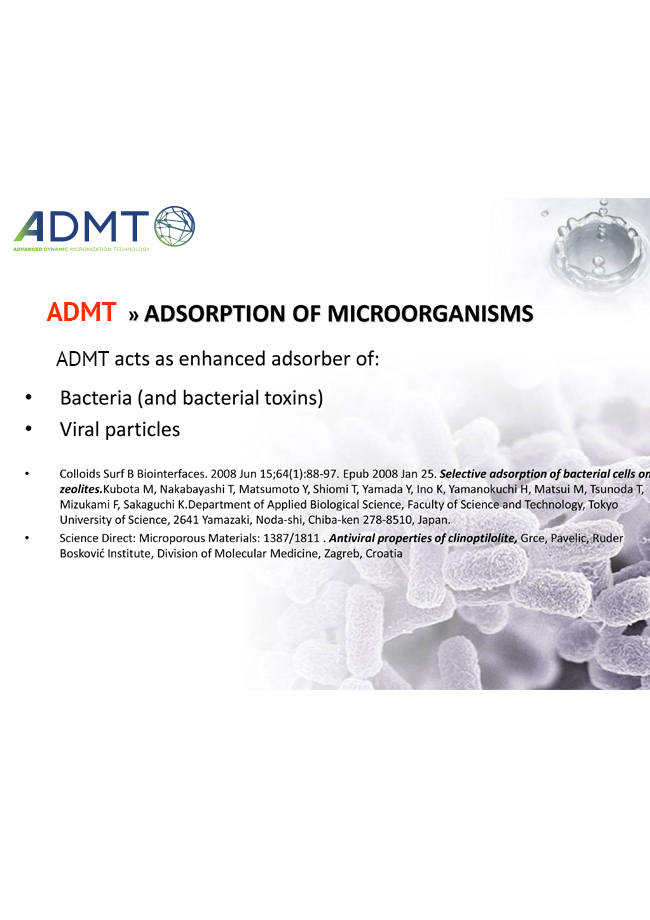 Advanced Dynamic Micronization Technology Adsorption Of Microorganisms