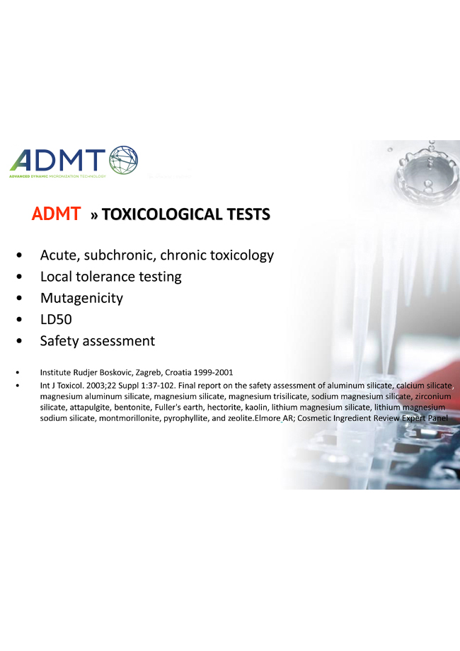 Dynamic Micronization Technology Toxicological Tests